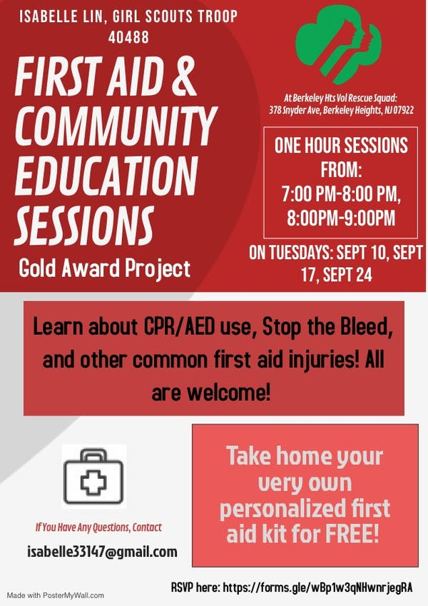 Sep 10 | First Aid & Community Education Sessions (Gold Award
