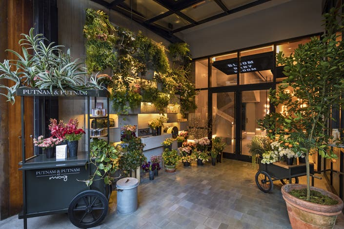 """... Putnam & Putnam's flower boutique and immediately encounter what the Flower District is all about,"""" Mitchell Hochberg, president of Moxy Chelsea's ..."""