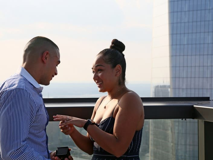 This Couples Engagement At 3 World Trade Was Meant To Be