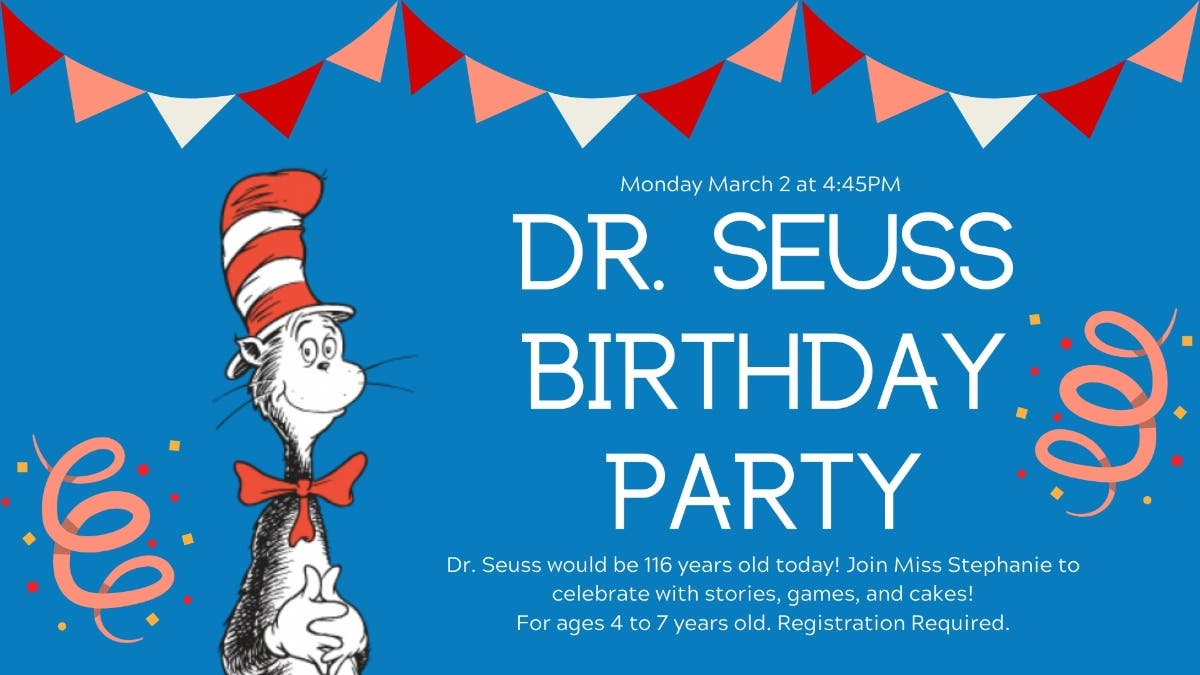 Magnificent Mar 2 Dr Seuss Birthday Party Tredyffrin Pa Patch Funny Birthday Cards Online Alyptdamsfinfo