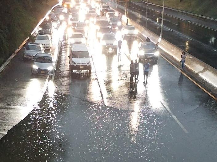 Long Island Expressway In NE Queens Floods After Rain ...