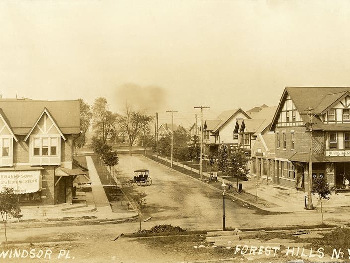 Windsor Place from Austin Street to Queens Boulevard, circa 1912.