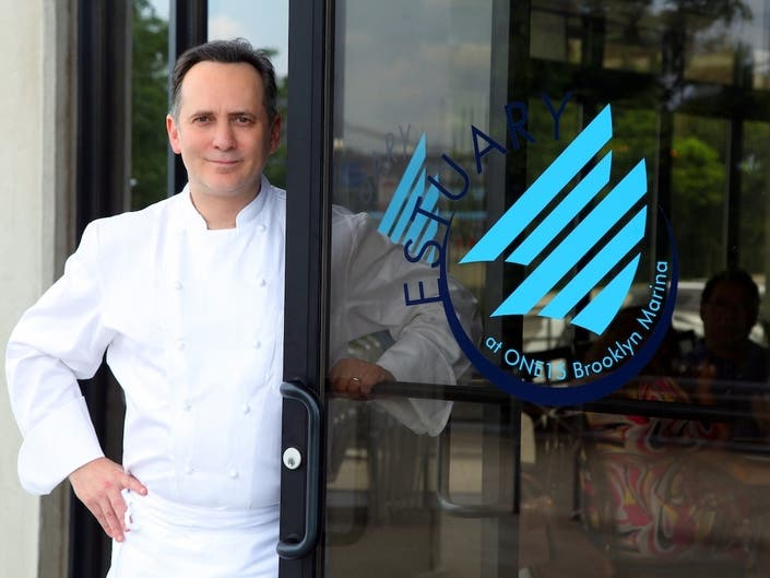 Danny Brown works as executive chef at Estuary, a new restaurant in Brooklyn Heights.