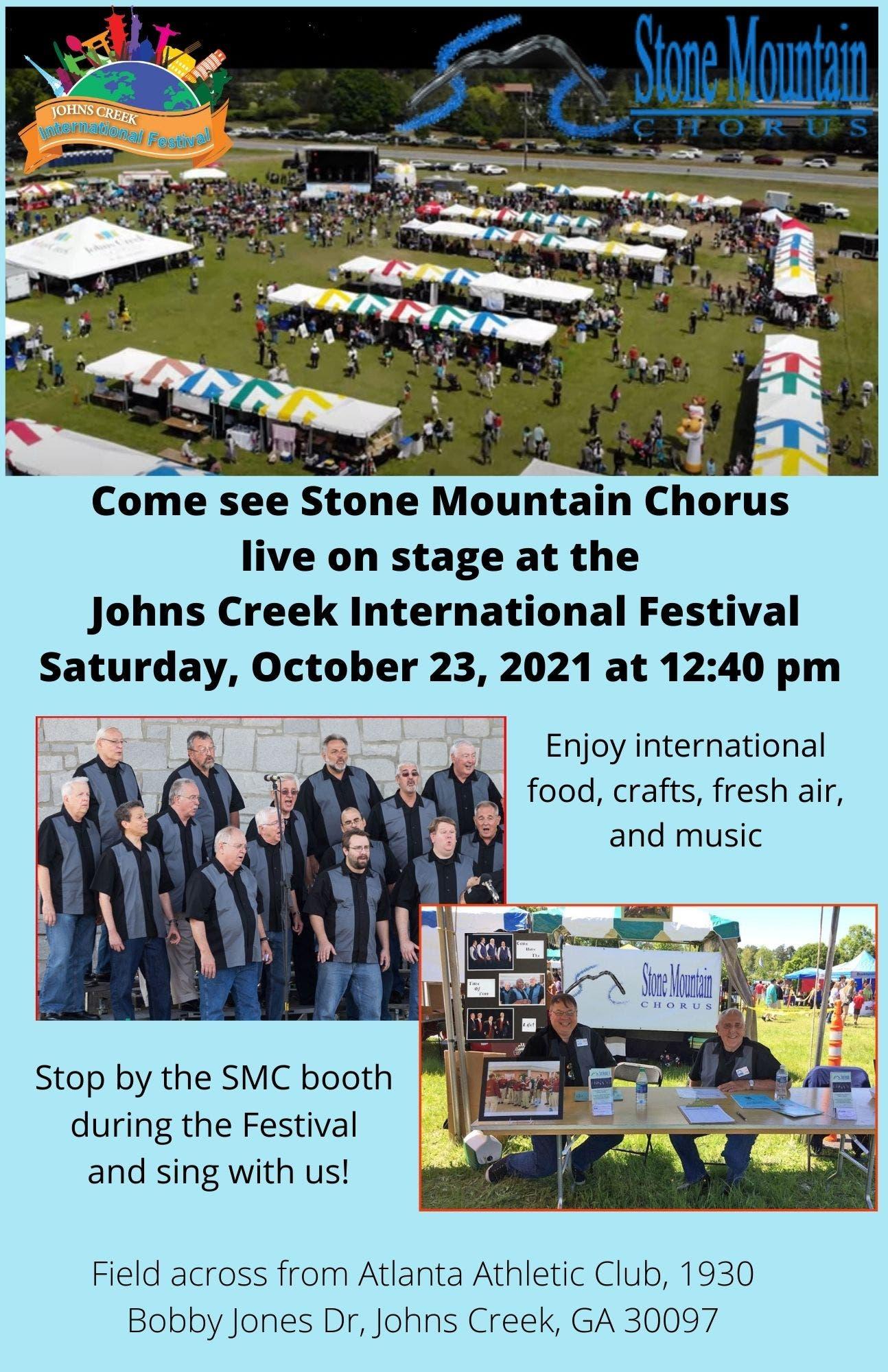 Stone Mountain Chorus at the Johns Creek International Festival