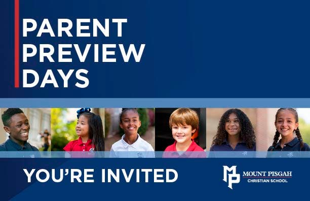 Mount Pisgah Christian School: Parent Preview Day, 5th-12th grade