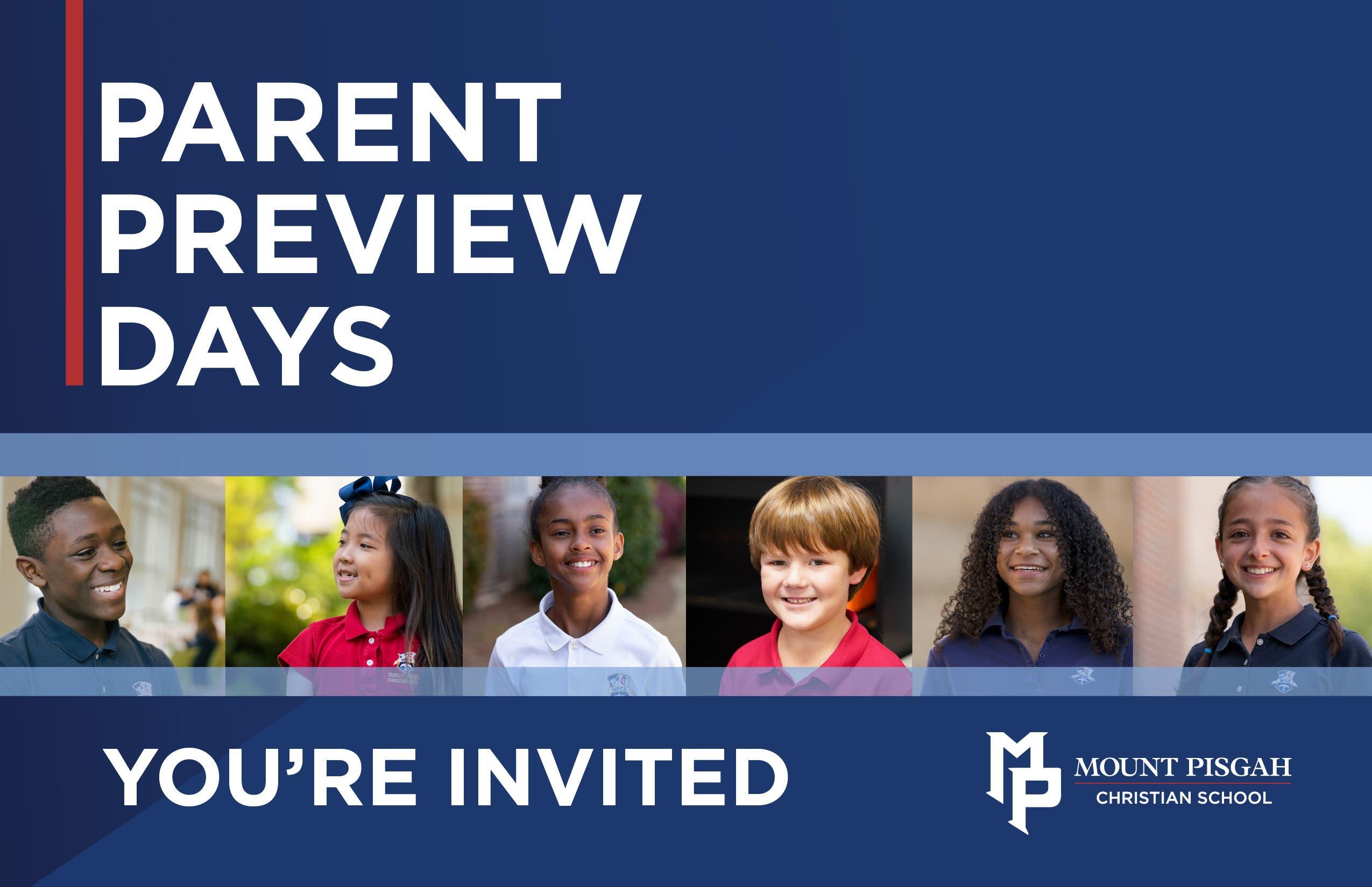 Mount Pisgah Christian School: Parent Preview Day (JK/K-4th)