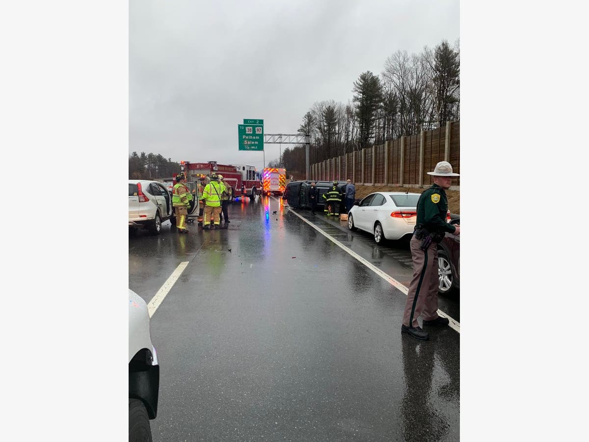 Rollover Shuts Down I-93 Southbound Lanes At NH Exit 2