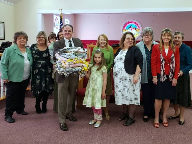 Woodstock Ladies Group Makes Blankets For Traumatic Events