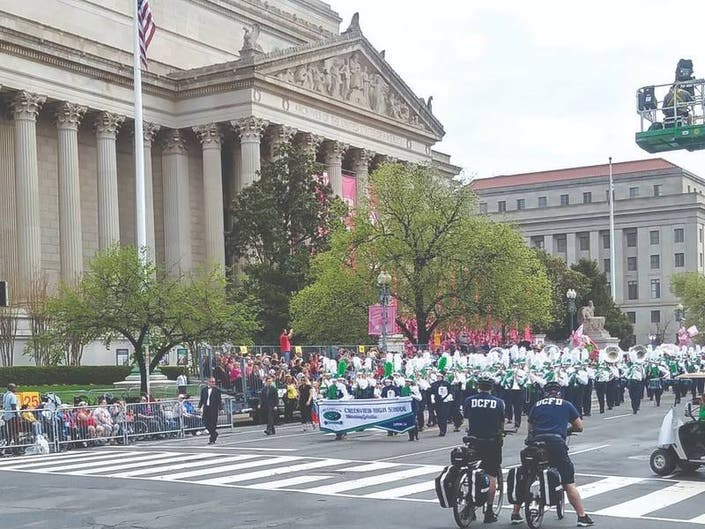Cherokee High Schools March In Cherry Blossom Festival Parade