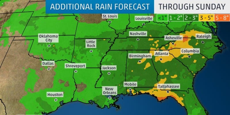 Atlanta Weather: Heavy Rain May Cause Flooding This Weekend