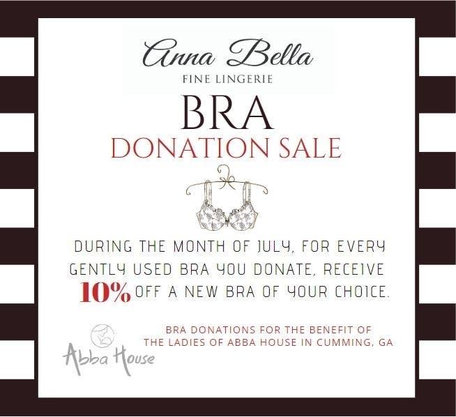 fc712da5155f Anna Bella Fine Lingerie will again be hosting its annual Bra Donation  Drive.