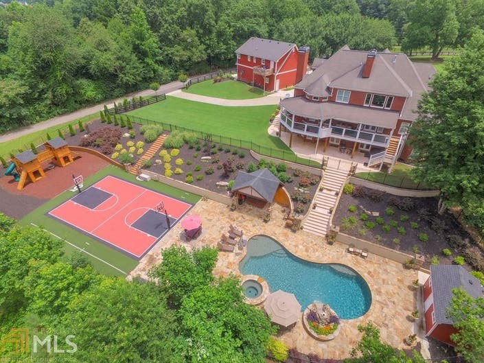 Resort Style Canton Home Offers NBA Sized Basketball Court