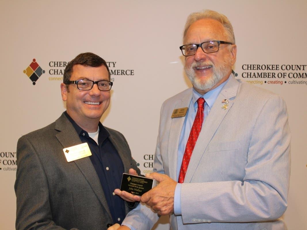 Cherokee Chamber Names Volunteer Of The Quarter Canton