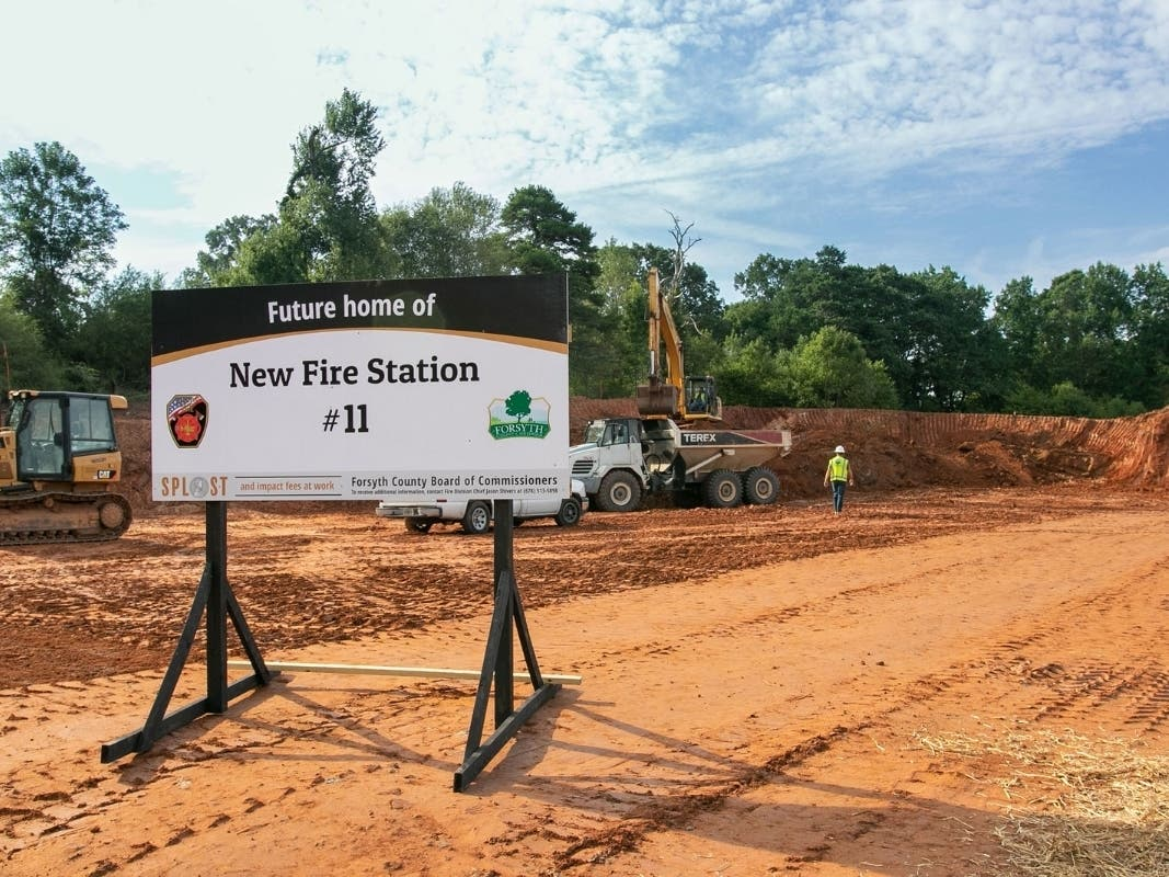 Ground Broken For New Fire Station In West Central Forsyth County