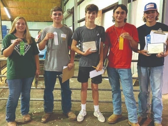 Creekview High FFA Teams Win Cattle Competition