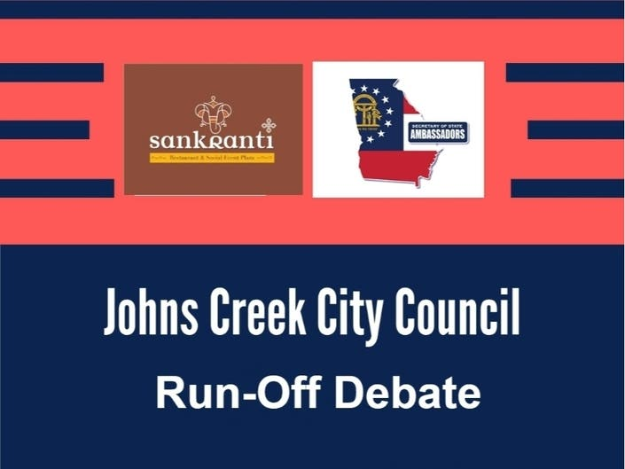 The Johns Creek City Council election is for the council seats of Post 2, Post 4, and Post 6.