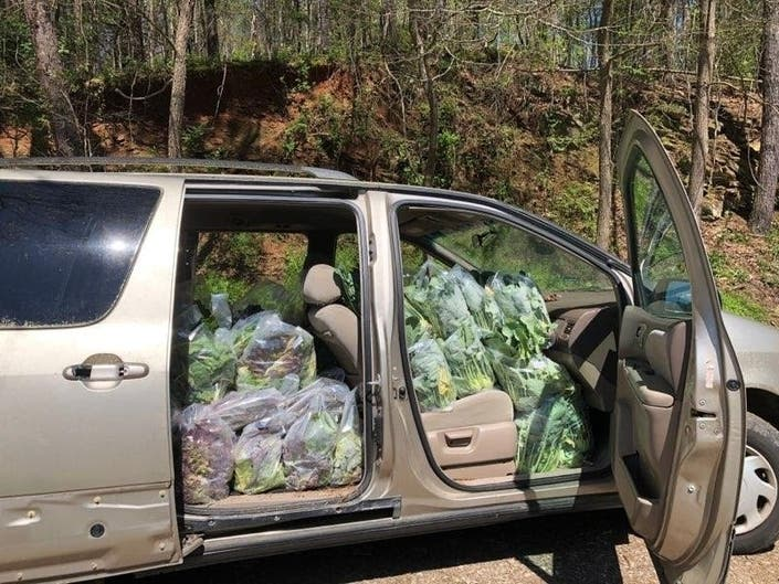 This trip yielded 340 pounds of produce to North Fulton Community Charities.