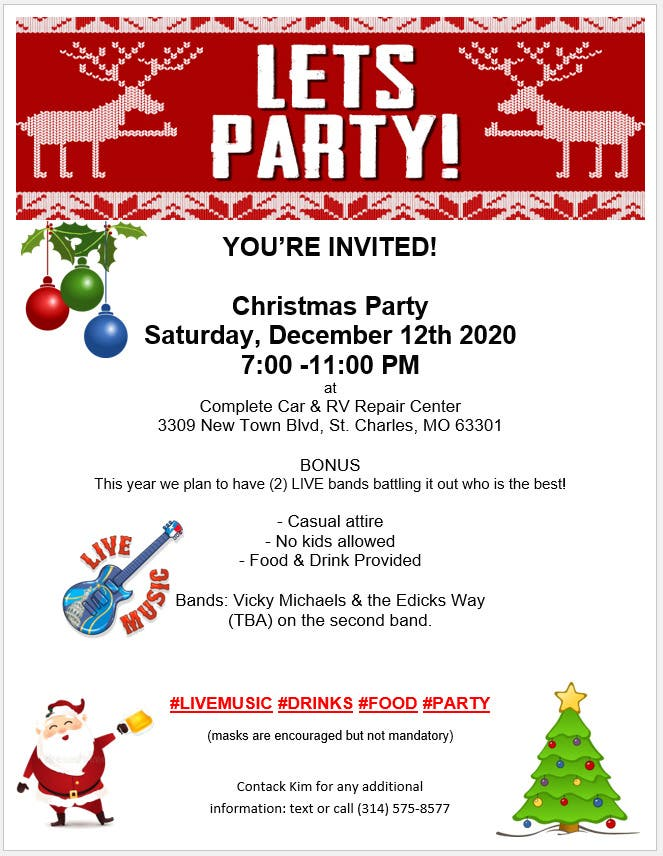 Christmas Childrens Events 2020 In St Charles, Mo Dec 12 | Christmas Party   Live Music, Food & Drink | St. Charles