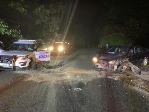 Windham Officer Hurt When Vehicle Strikes Police Cruiser   Windham