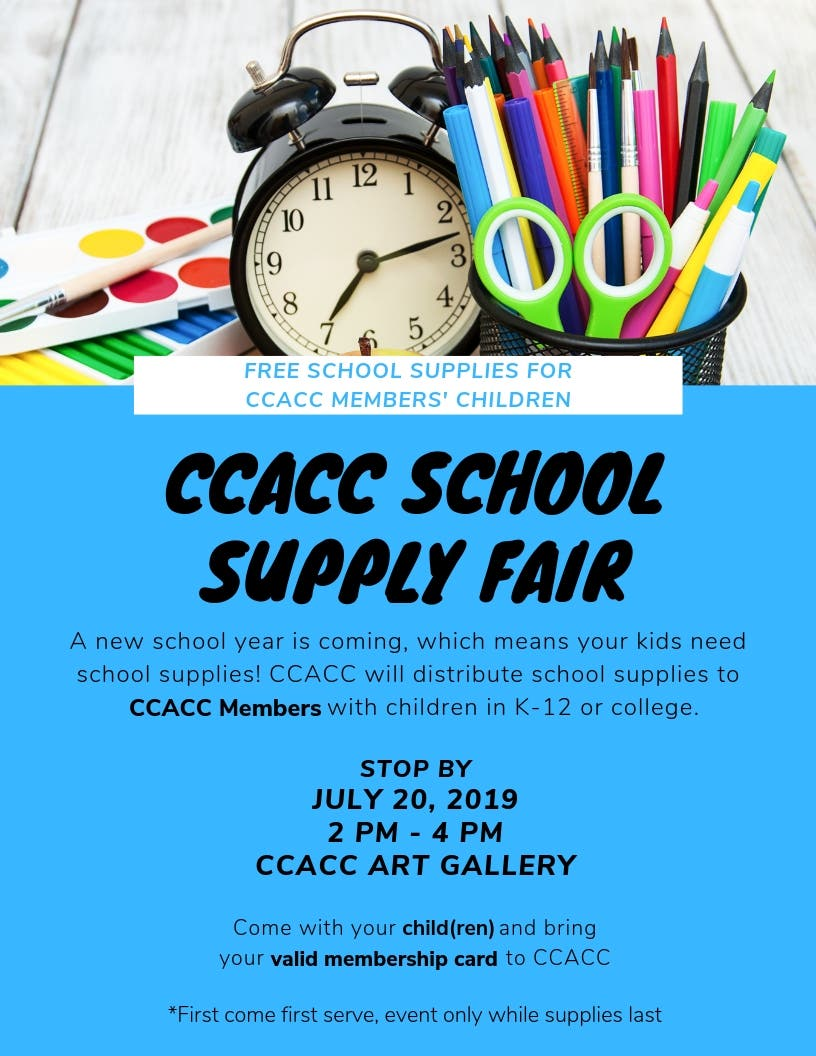 Jul 20 | CCACC School Supply Fair | Germantown, MD Patch