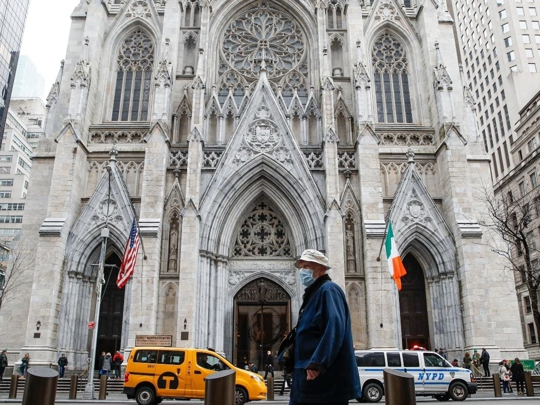 St. Patrick's Cathedral Reopens For First Mass Since March