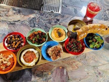 A hummus and dip spread offered by Dagon.