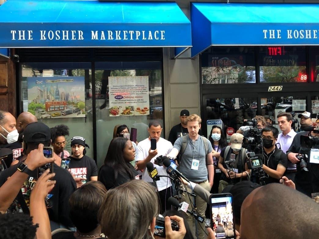 'Cancel Carmine's' Rally Draws Crowd On The Upper West Side
