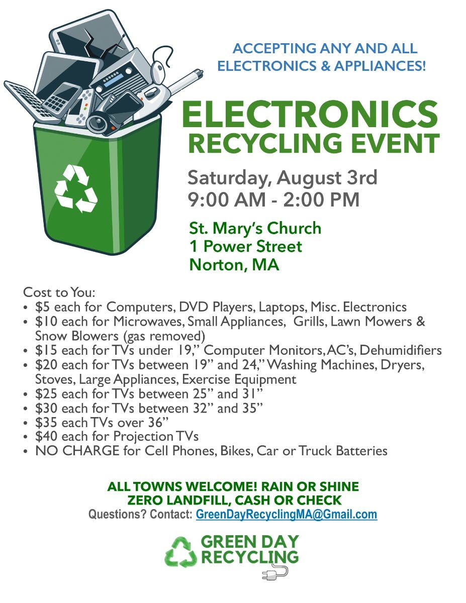 Aug 3 | Electronics Recycling Event | Attleboro, MA Patch