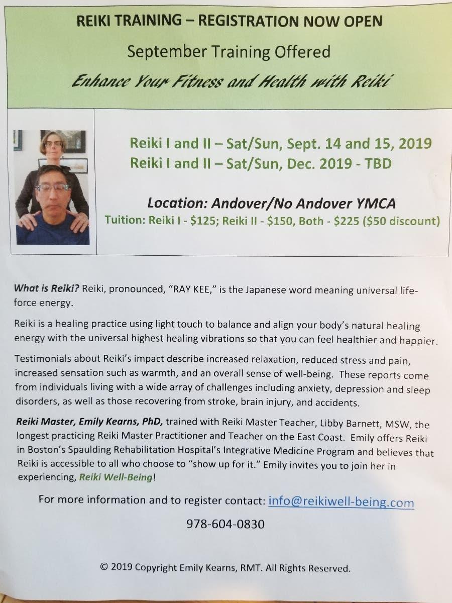 Dec 31 | Reiki I and II Training | Andover, MA Patch