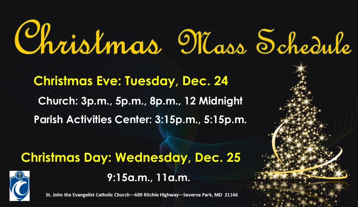 Edgewater Alliance Church Christmas Eve Service Times 2021 Dec 24 Christmas Eve Mass Schedule Severna Park Md Patch