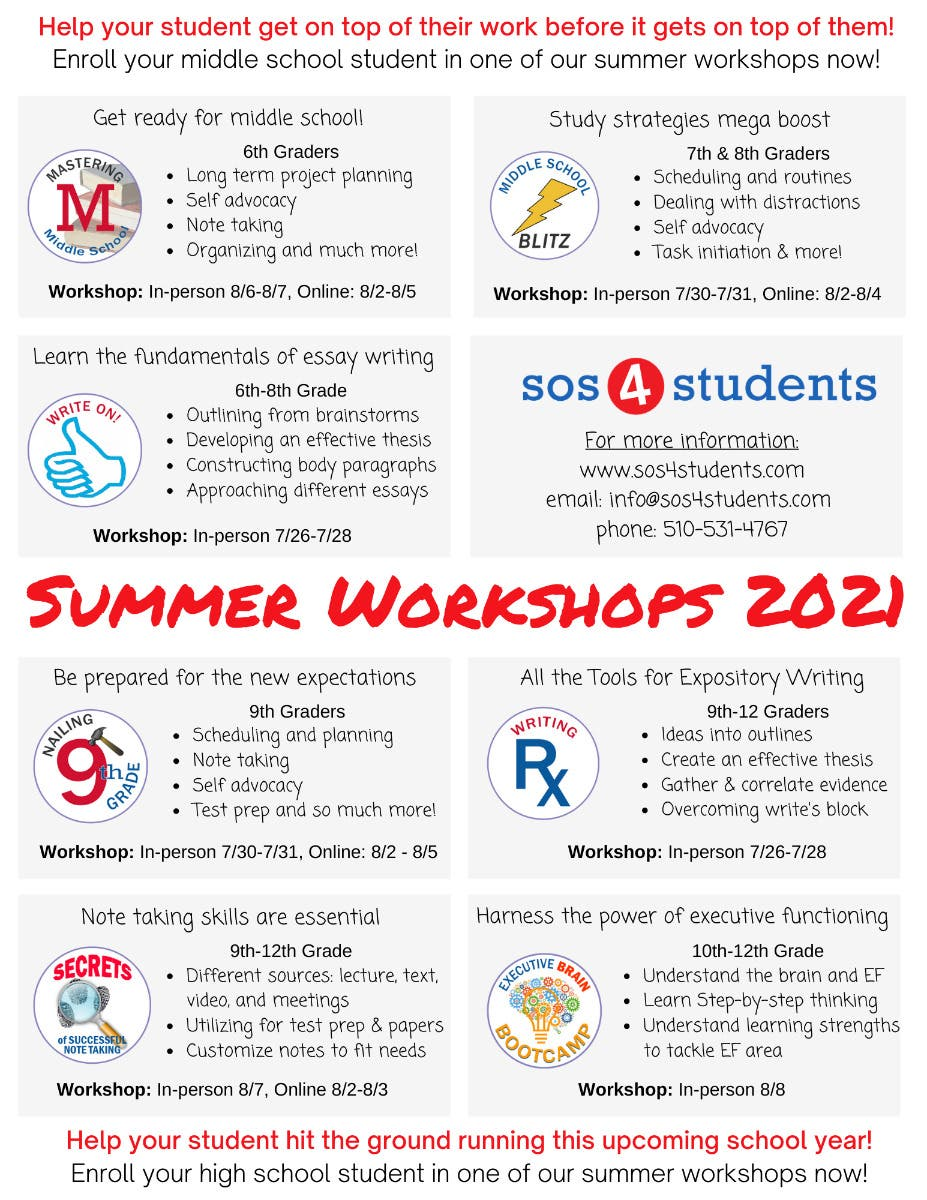 SOS4Students: Executive Function Summer workshops started!!!