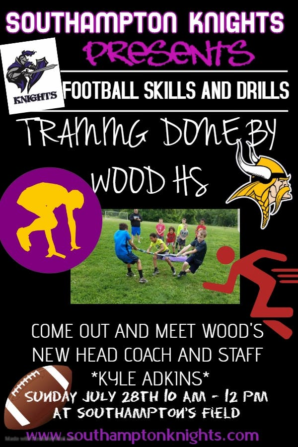 Jul 19 Skills And Drills With Archbishop Wood Football July 28th 10am Upper Southampton Pa Patch