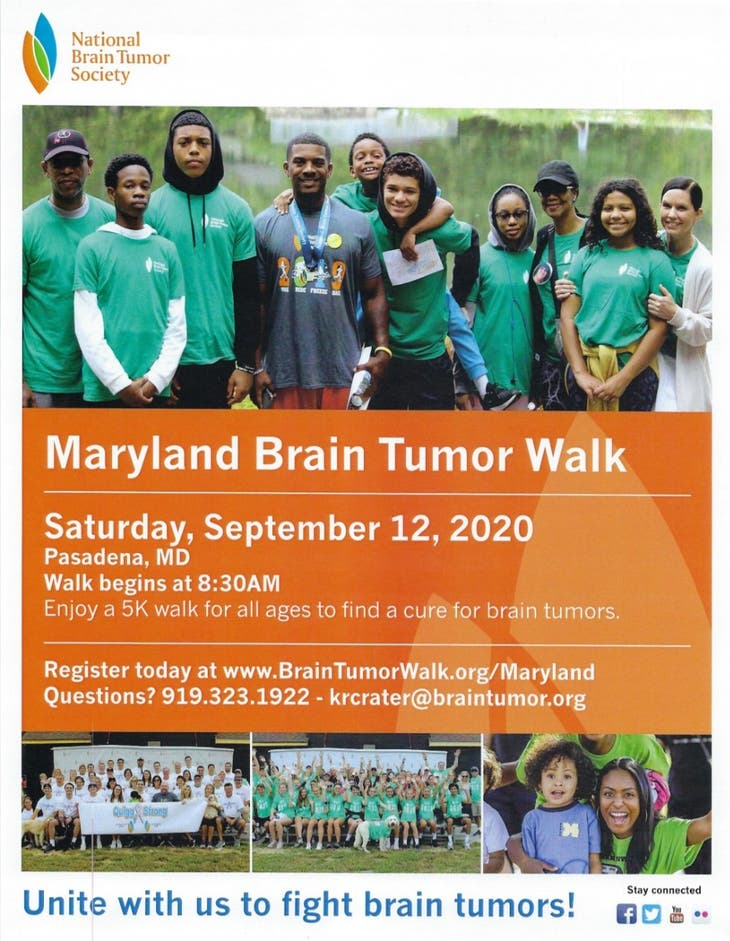 5th Annual Maryland Brain Tumor Walk