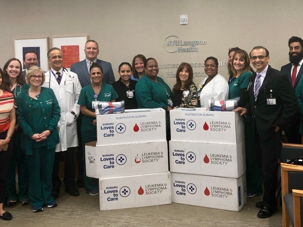 NYU Langone Perlmutter Cancer Center Receives 60 Blankets