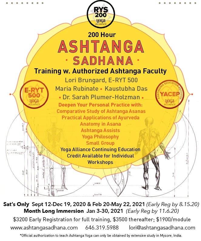 200 hr Ashtanga Sadhana Training
