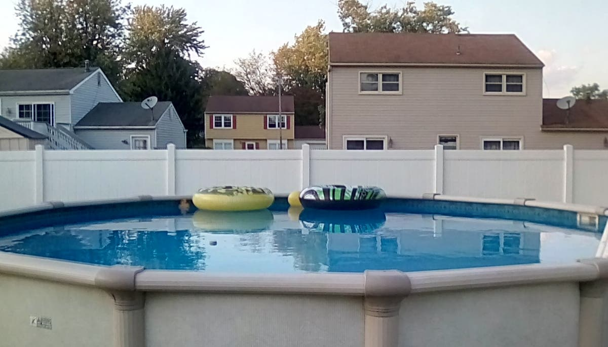 Beautiful 21 39 round above ground pool gloucester - Beautiful above ground pool ...