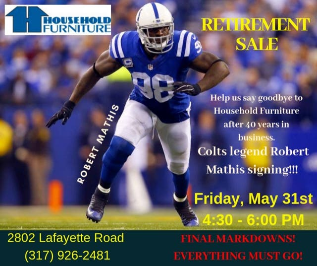 Etonnant Colts Robert Mathis Says Goodbye To Household Furniture