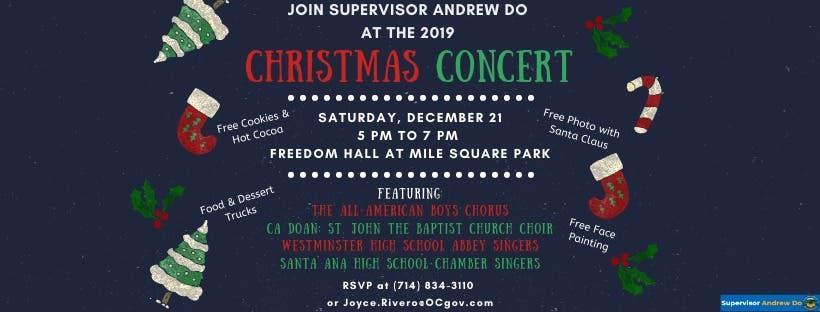 Dec 21 Christmas Concert At Mile Square Park Orange County Ca Patch
