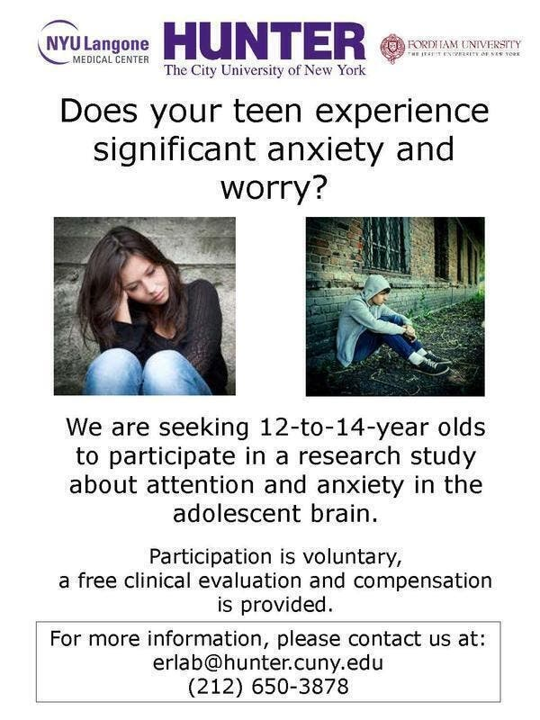 paid surveys for 14 year olds teen 12 14 year olds anxiety and brain study paid 4909