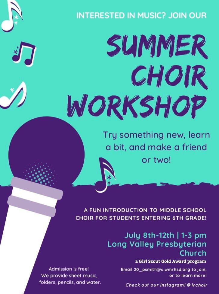 Jul 8 | Intro to Choir Workshop for Kids Entering 6th Grade