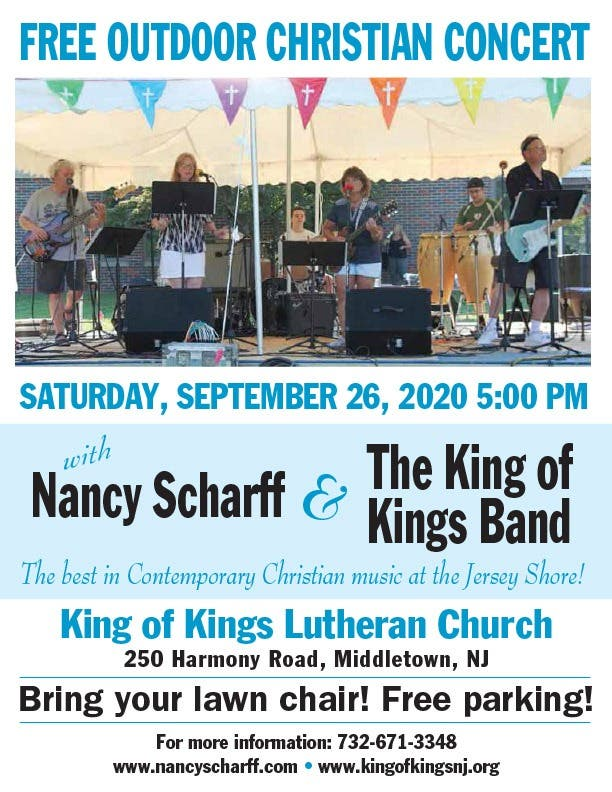 Free Christmas Concerts 2020 Nj Sep 26 | Free Concert Nancy Scharff & The King of Kings Band