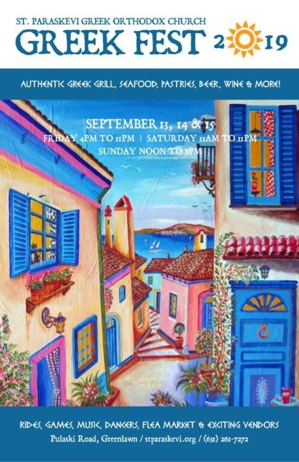 Greek Fest at Saint Paraskevi, Pulaski Road, Greenlawn