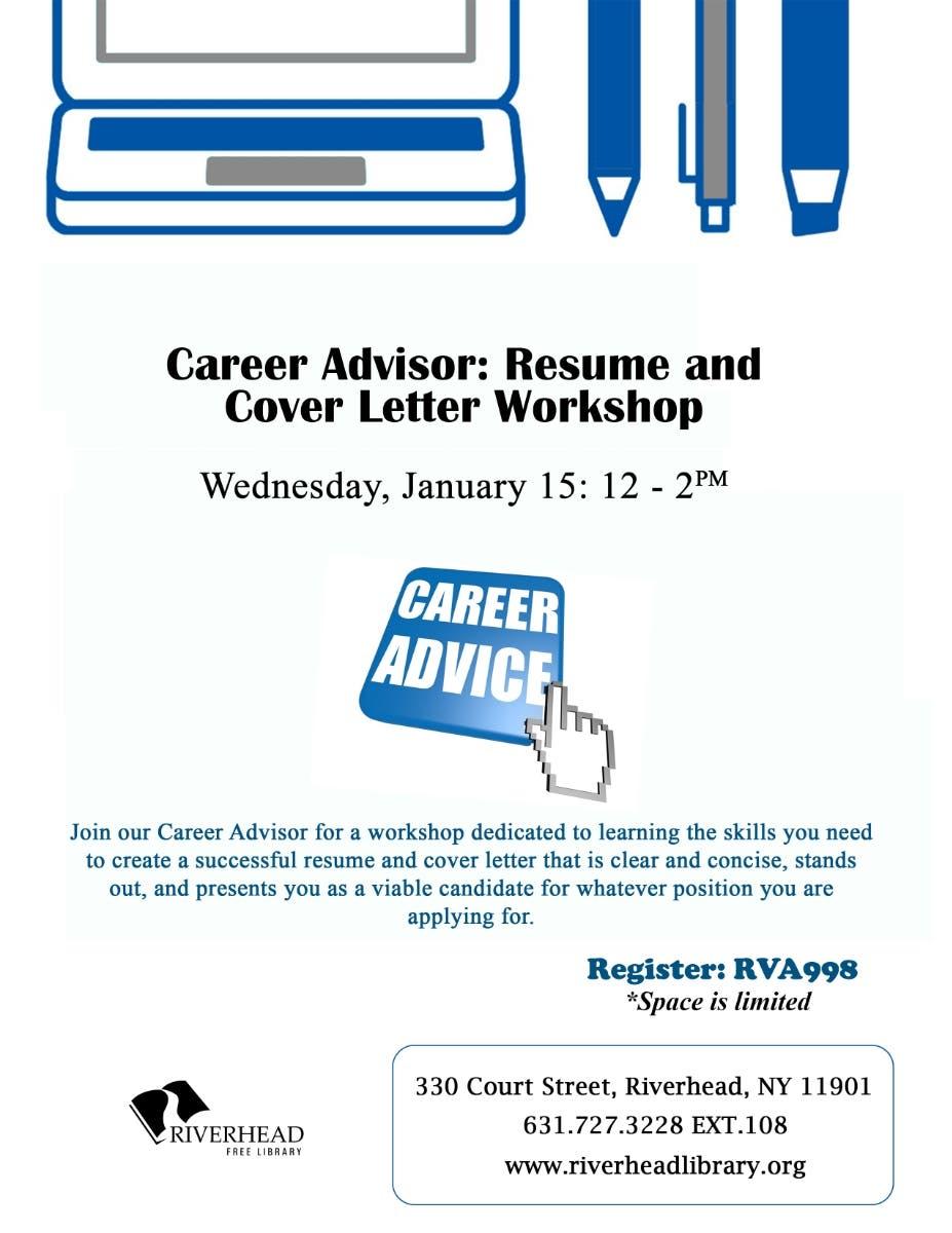 Jan 15 | Career Advisor: Resume and Cover Letter Workshop ...