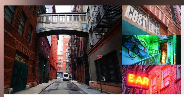 The Secrets of TriBeCa: Lofts, Artists, & Alleyways Interactive W