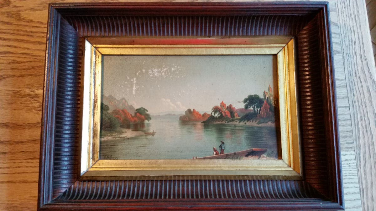 """Delaware River"" - John R. Key Chromolithograph"