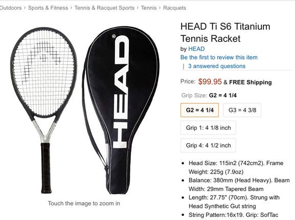 New Head Ti S6 racket with bag, 35$ - Madison, NJ Patch