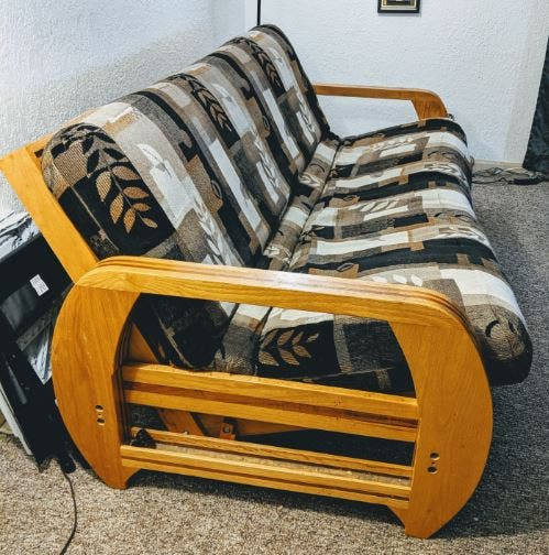 Wondrous Futon Couch Set W Ottoman Milpitas Ca Patch Evergreenethics Interior Chair Design Evergreenethicsorg