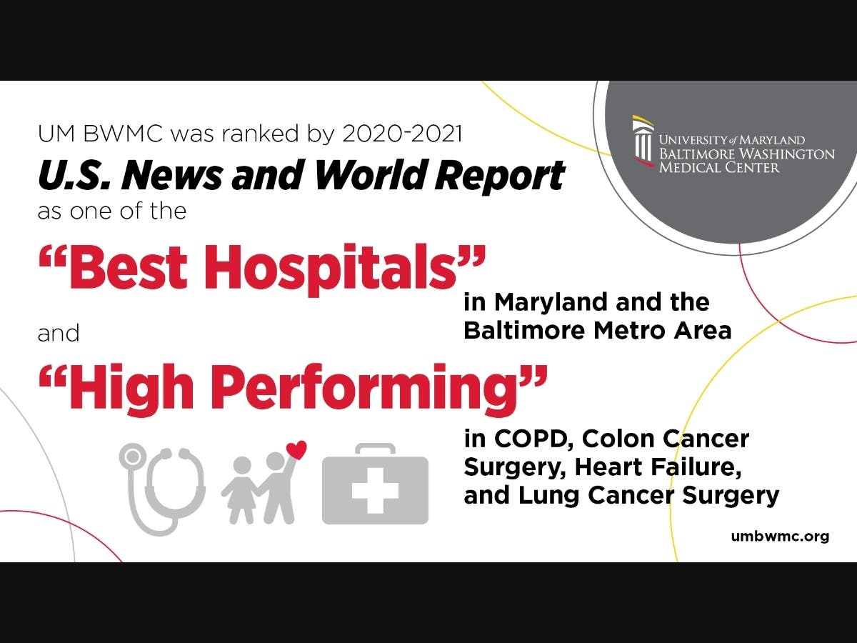Um Bwmc Ranked A Best Hospital By U S News World Report Anne Arundel Md Patch
