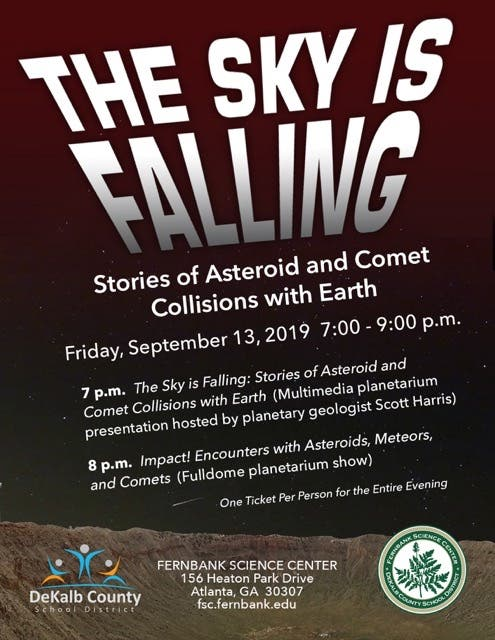 Sep 13 | The Sky is Falling: Stories of Asteroid Collisions