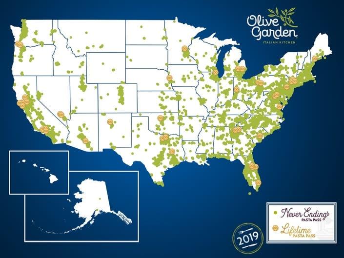 Three NJ Residents Win Olive Gardens Lifetime Pasta Passes